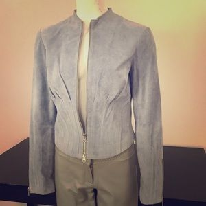 Moda International Blue Suede Jacket